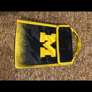 I dilated University of Michigan lunch bag